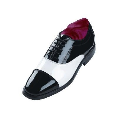 David's Formal Wear - Two Tone Balmoral Cap Toe Formal Tuxedo Shoes