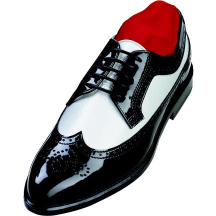 Two Tone Wing Tip After Six Formal Tuxedo Shoes