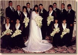 Wedding party where menswear was from David's Formal Wear.