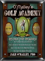 Personalized Golf Academy Sign