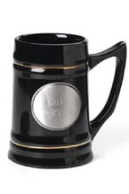 Pewter Medallion Ceramic Mug