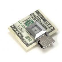 Stainless Steel Clock and Money Clip